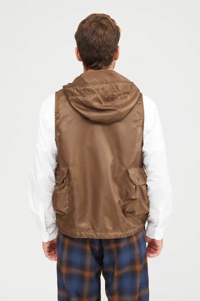 FIELD VEST POLYESTER PILOT TWILL - BROWN