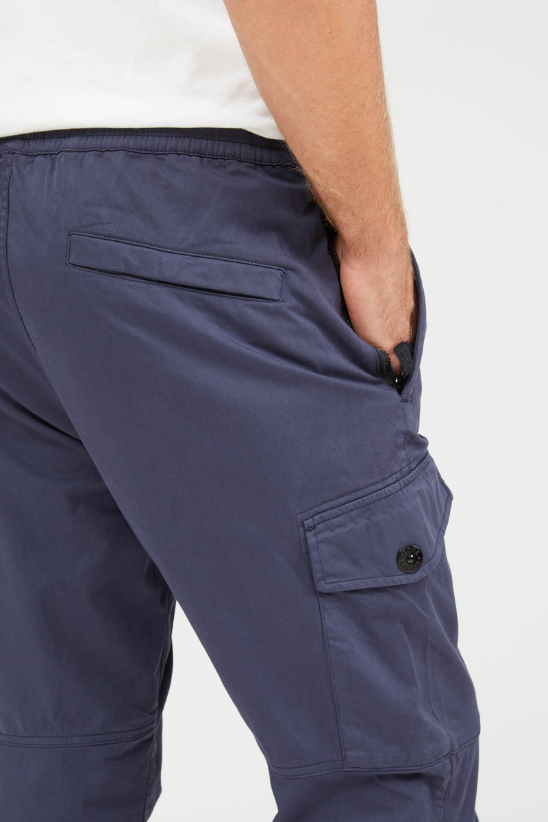 31414 Raso Cotone Lana Stretch Pants - Blue Marine