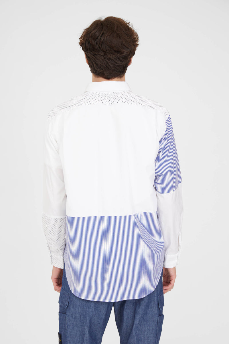 Combo Short Collar Shirt - White 100's 2Play Broadcloth