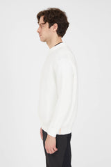 Crew Neck P's Cotton Punto Links - Natural