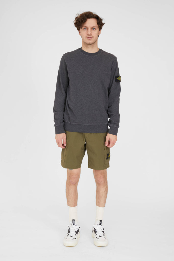 L0803 Stretch Cotton Tea Paracadute Cargo Shorts - Olive