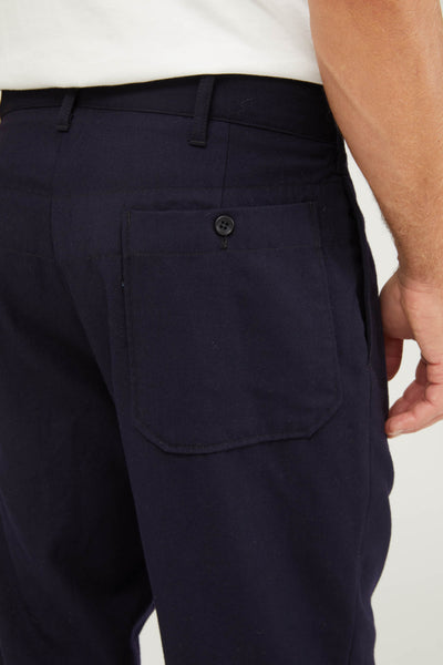 Carlyle Pant Wool Uniform Serge - Dark Navy