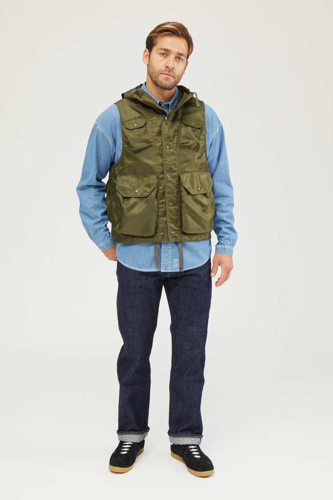 FIELD VEST POLYESTER PILOT TWILL - OLIVE DRAB
