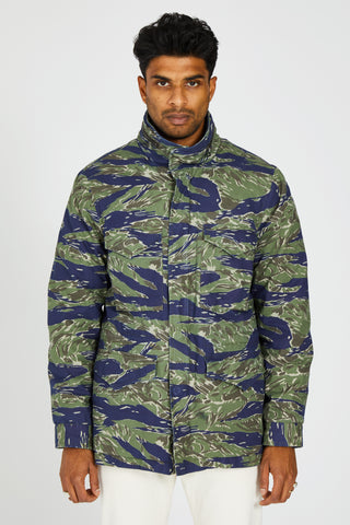 P65 FIELD JACKET JAPANESE TIGER CAMO CASHMERE LINER