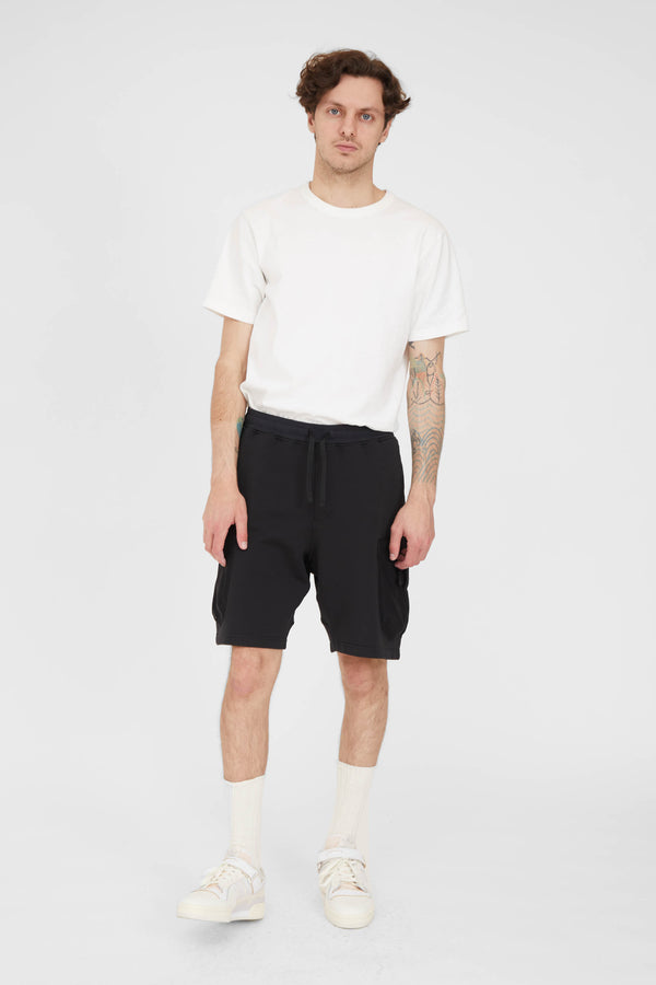 60307 Felpa Nylon Mesh Pocket Shorts - Black