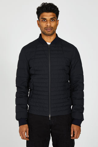 LAMINAR GORETEX DOWN QUILTED JACKET - BLACK