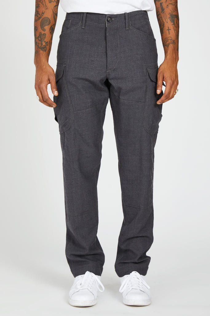 MISSION TROUSER ITALIAN WASHED WOOL - GREY