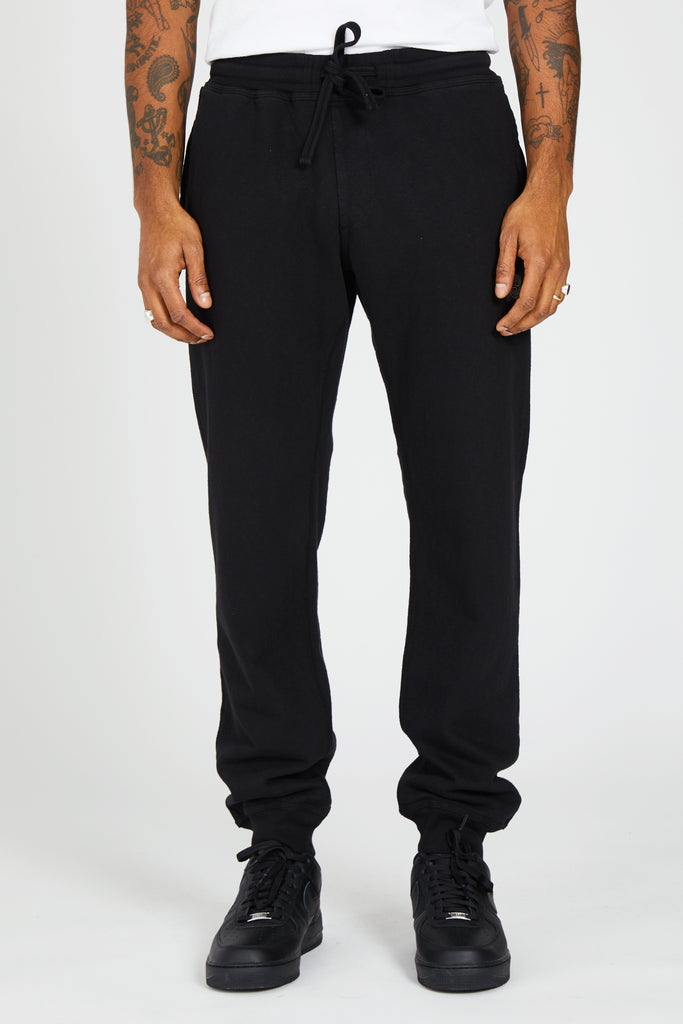 61261 FELPA MALFILE WASHED FLEECE PANTS - BLACK