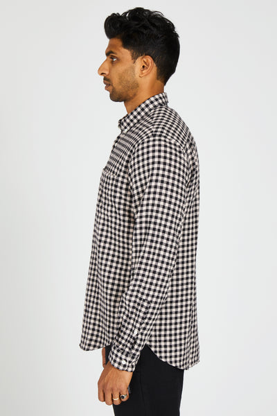 CHATHAM SHIRT SMALL CHECK COUPE - WHITE