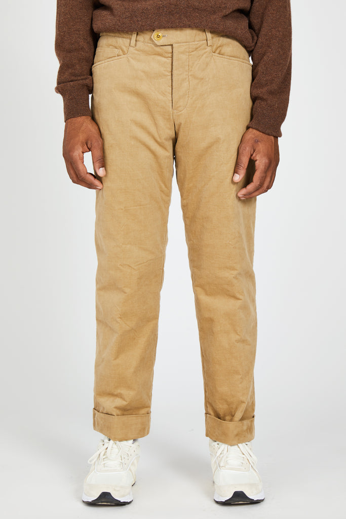 THIN WALE STRETCH CORDUROY PADDED L-POCKET PANTS