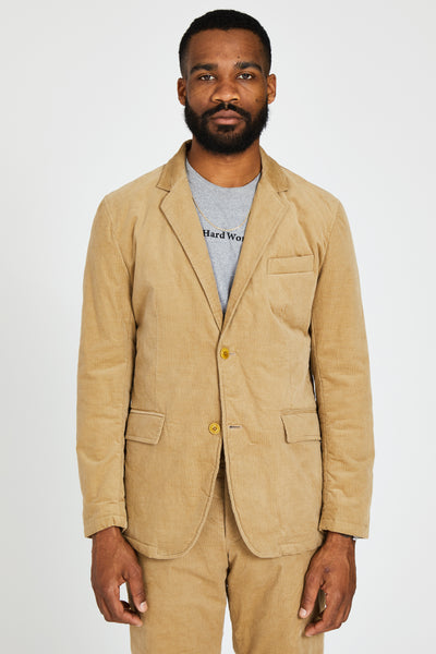 THIN WALE STRETCH CORDUROY PADDED 2B JACKET