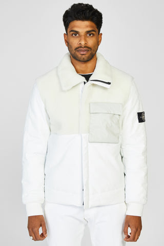 00178 FEATHERWEIGHT LEATHER PRIMALOFT INSULATION JACKET - WHITE