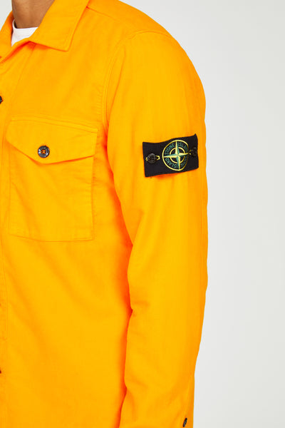 11102 FUSTAGNO COTONE CHAMOIS OVERSHIRT - ORANGE