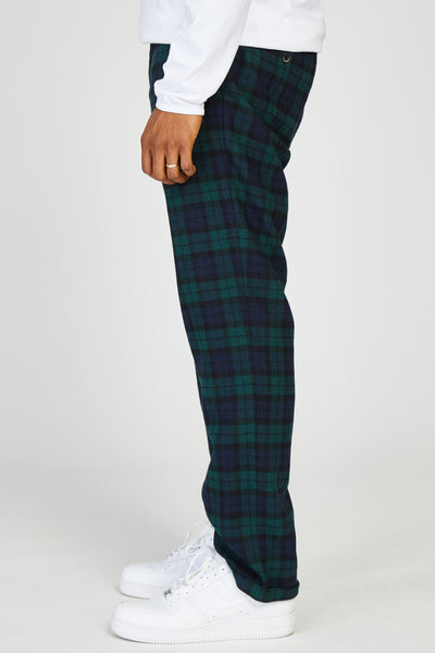 RAMPIN FOLO WOOL TROUSERS - BLACKWATCH