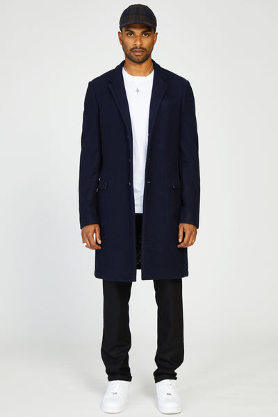 CASHMERE ESTATE COAT - NAVY