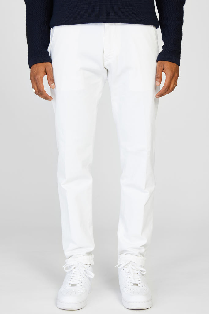 RAG JAPANESE SELVEDGE GABARDINE CHINO - WHITE