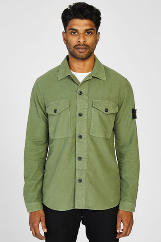 11102 FUSTAGNO COTONE CHAMOIS OVERSHIRT - ARMY