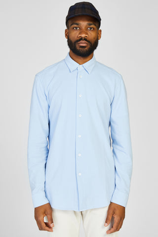 COPPI TAMISO N COTTON PIQUE SHIRT - CIELO