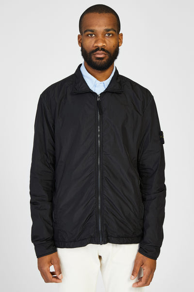 Q0323 GARMENT DYED CRINKLE REPS LINED JACKET - BLACK