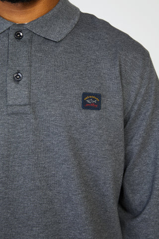 ORGANIC COTTON PIQUE POLO - CHARCOAL