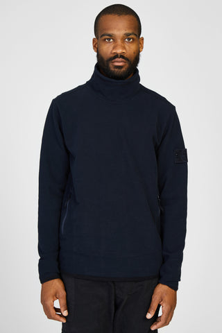 61840 FELPA STRETCH GHOST MOCK NECK SWEATER - NAVY