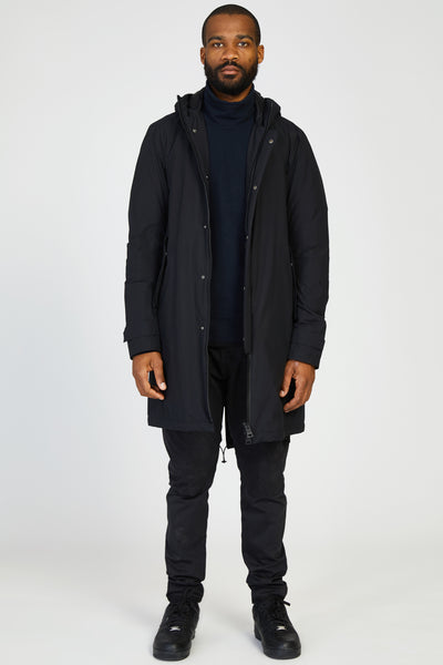 LAMINAR GORETEX DOWN FISHTAIL PARKA - BLACK