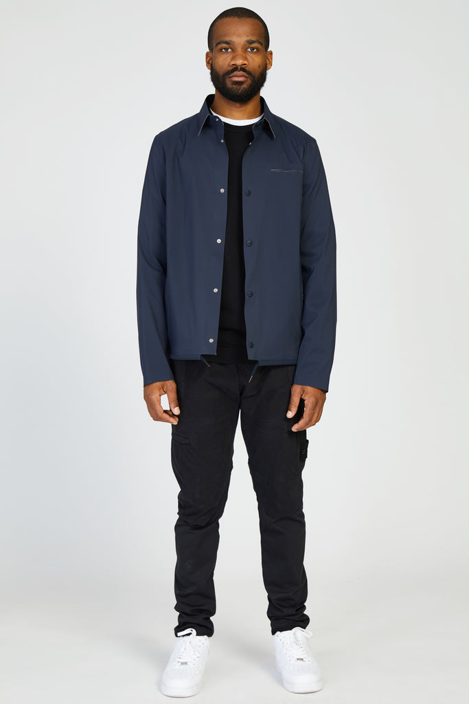 BONDED TISSUE WEIGHT SHIRT JACKET - NAVY
