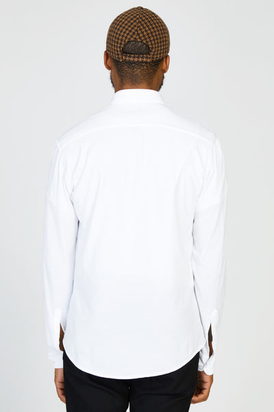 COPPI COTTON JERSEY SHIRT - WHITE