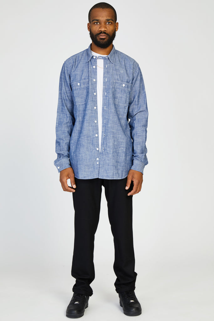 MISSOURI JAPANESE SELVEDGE CHAMBRAY SHIRT - INDIGO