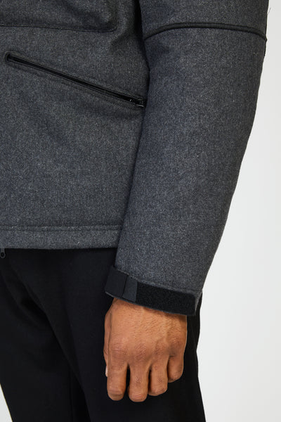 44032 PANNO-R 4L STRETCH WOOL JACKET - CHARCOAL