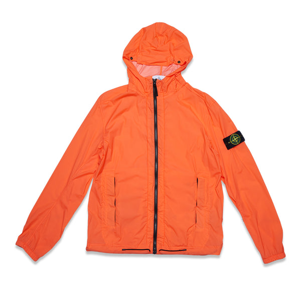 43831 SKIN TOUCH NYLON-TC GARMENT DYED PACKABLE JACKET - ORANGE RED