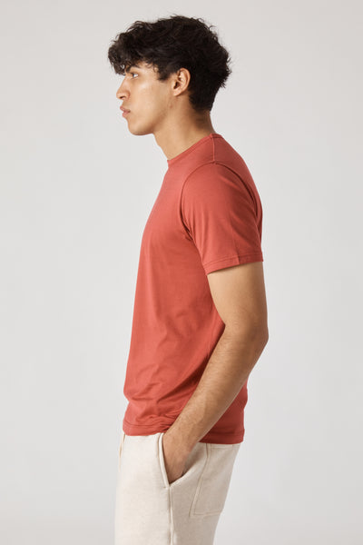 SS CREW NECK TSHIRT - SCARLET