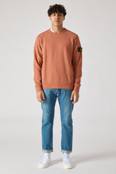 62720 COTTON FLEECE GARMENT DYED SWEATSHIRT - RUST