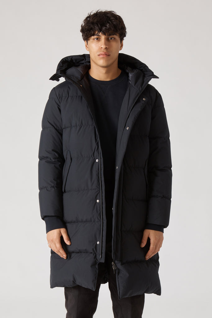 LAMINAR DOWN STADIUM PARKA - BLACK