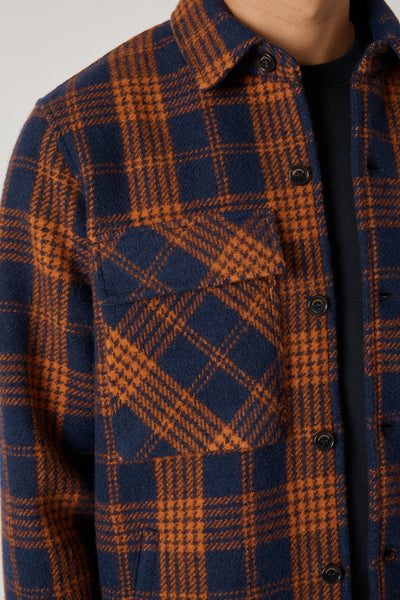 TWENTY-TWO JACKET WOOL CHECK - BLUE NAVY