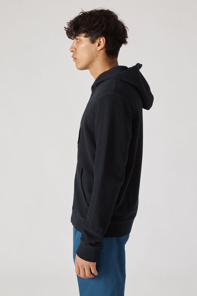 Zip Fleece Hoody - Black
