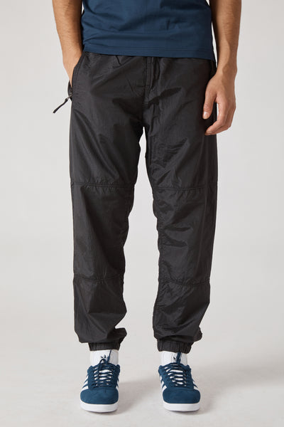 30536 NYLON METAL RIPSTOP TRACK PANTS - BLACK