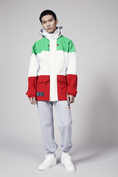 LQQK TYPHOON PARKA - RED/WHITE