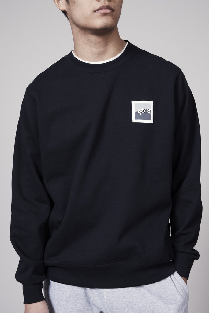 LQQK CREWNECK SWEAT SHIRT - BLACK