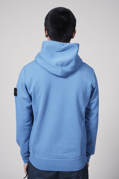 62851 COTTON FLEECE GARMENT DYED HOODY - PERIWINKLE