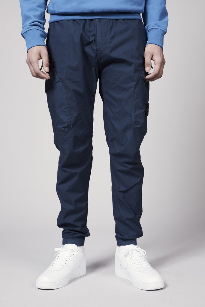 32203 STRETCH COTTON TELA PARACADUTE CARGO PANT - BLUE MARINE