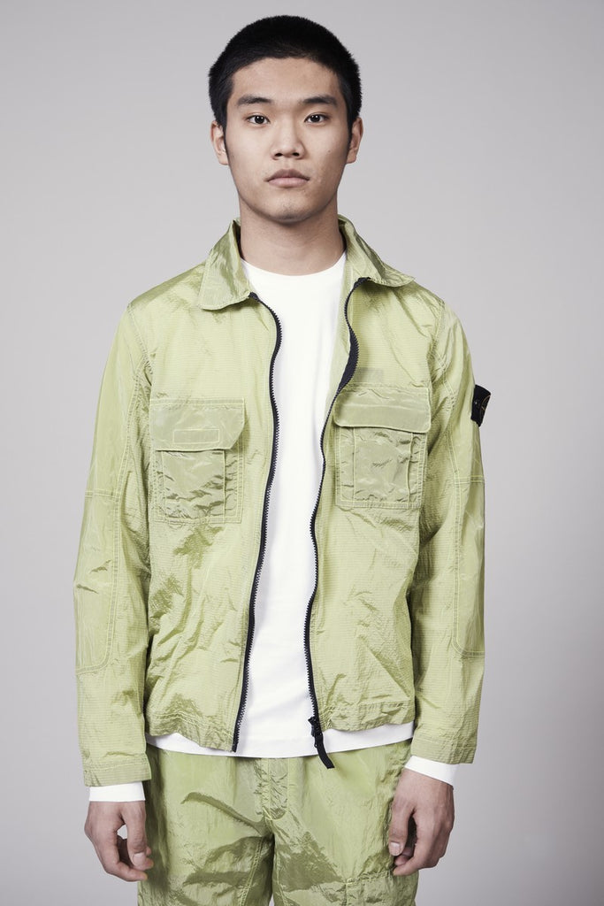 11117 NYLON METAL OVERSHIRT - LEMON