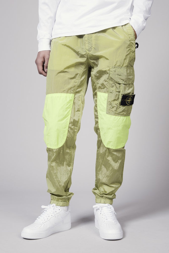 30617 NYLON METAL RIPSTOP PANTS - LEMON