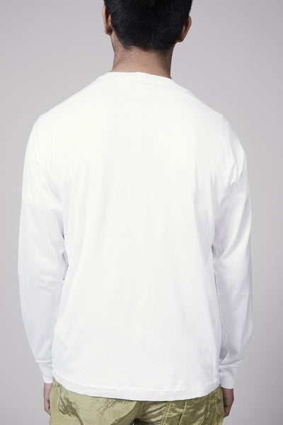 22713 MERCERISED COTTON GARMENT DYED TSHIRT - WHITE