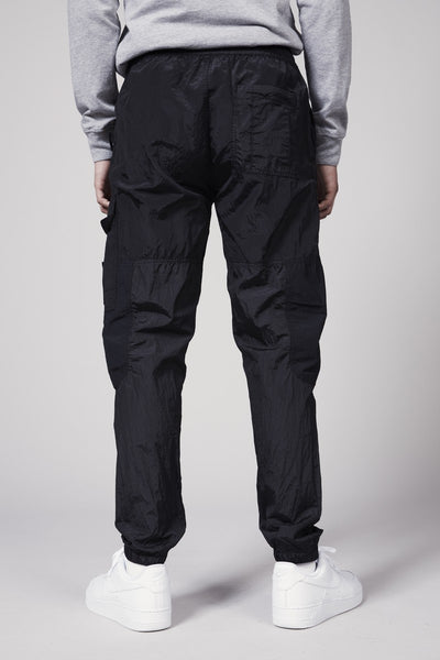 30617 NYLON METAL RIPSTOP PANTS - BLACK