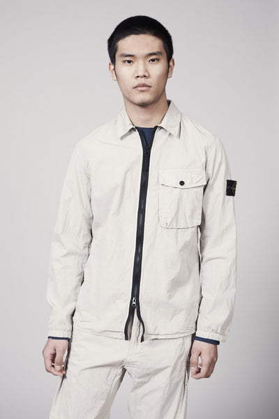 13108 COTTON NYLON POPLIN OVERSHIRT - BEIGE