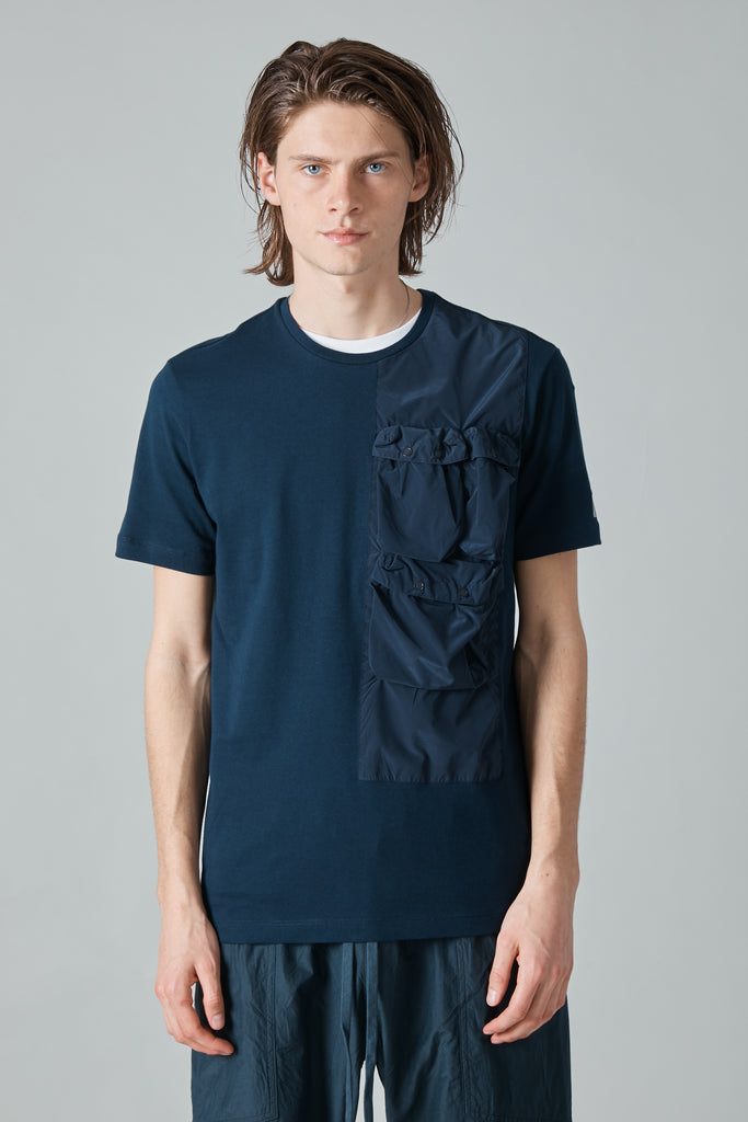 TECH NYLON TAFFETA TSHIRT - NAVY