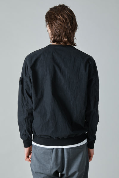 659F2 GHOST COTTON NYLON TELA PULLOVER - BLACK