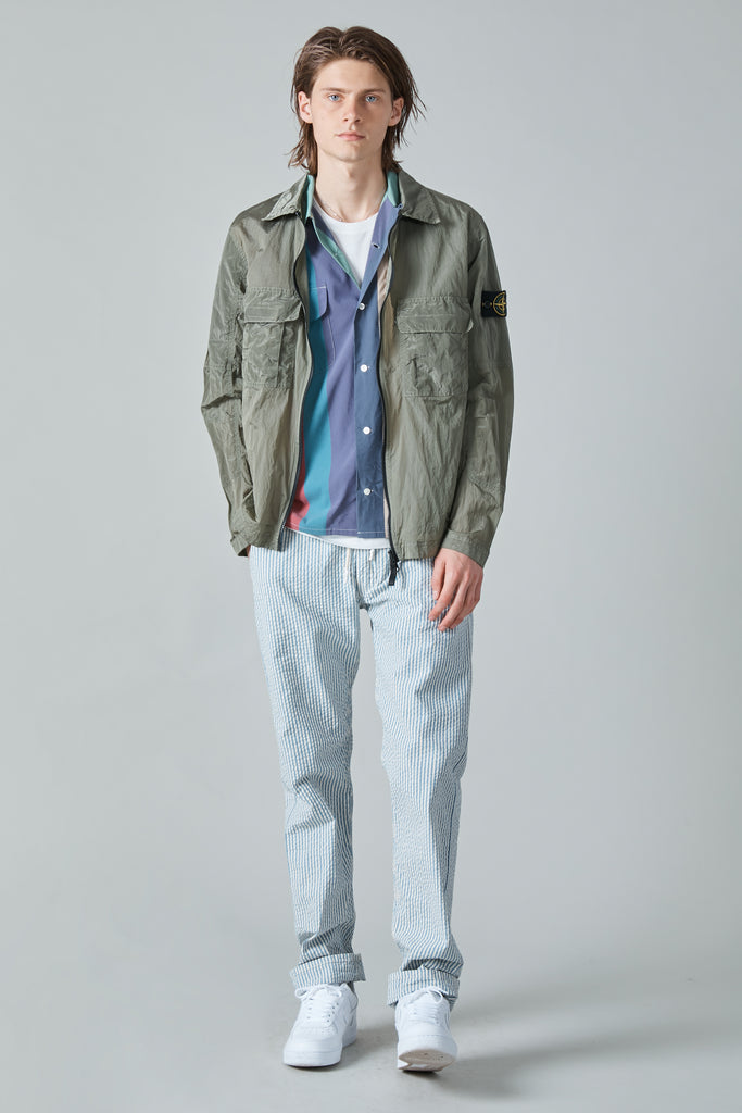 11117 NYLON METAL OVERSHIRT - SAGE