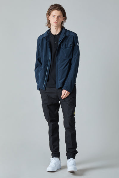 TECH NYLON TAFFETA OVERSHIRT - NAVY